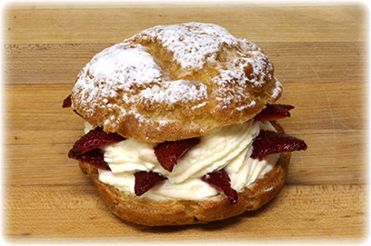 Choux Chantilly con Fresas