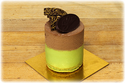 Mousse de Pistachio con Chocolate