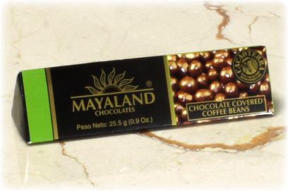 Café recubierto con chocolate