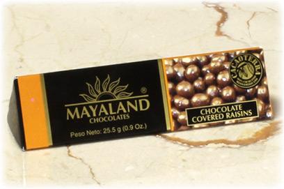 Pasas recubiertas con chocolate