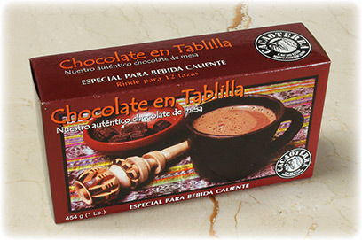 Chocolate en tablilla