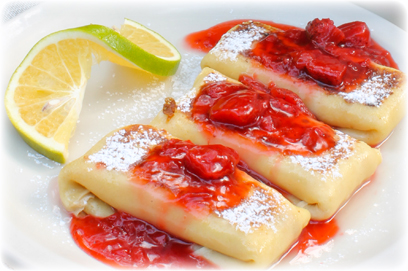 New York Cheese Blintzes