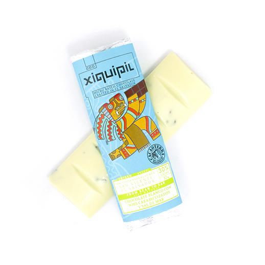 Xiquipil – Chocolate blanco 30% cacao con Nibs caramelizados y Sal de mar