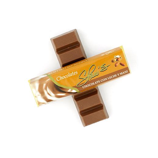 Chocolate de leche con maní