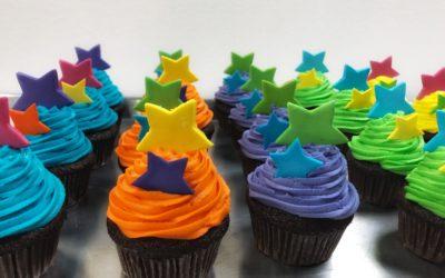 Starry cupcakes