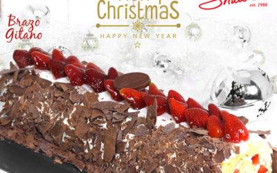 Brazo gitano de fresas con chocolate oscuro