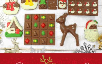 Figuras navideñas en chocolate