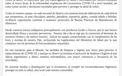 Comunicado Especial del COVID-19
