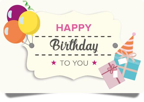 eGift Card- Happy Birthday I